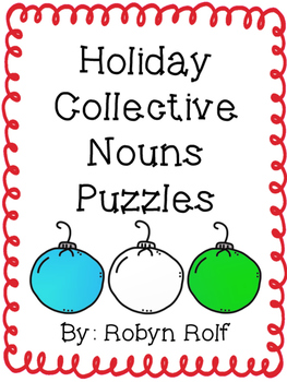 Holiday Collective Nouns Puzzles