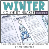 Holiday Color By Number Grade 5 NBT.2