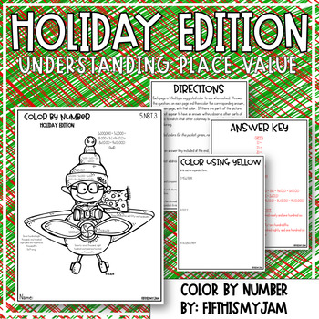 Holiday Color By Number Grade 5 NBT.3