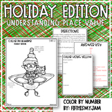 Holiday Color By Number Place Value Understanding