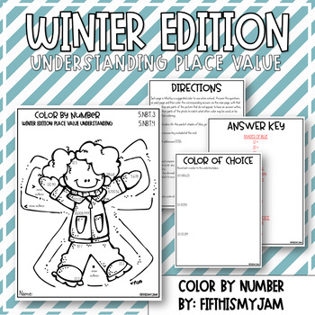 Holiday Color By Number Grade 5 NBT.3 and NBT.4