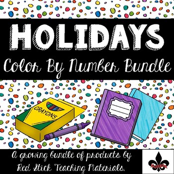Holiday Color By Number Growing Bundle--No Prep