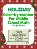 Holiday Color By Number- Math