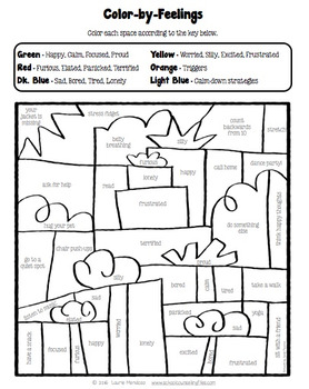 feelings coloring pages Holiday Color My Feelings Coloring Pages by School Counseling Files feelings coloring pages