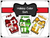 Holiday Color Sorting Activity for Pre-k