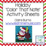 """Holiday """"Color That Note"""" Activity Pages"""