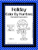 Holiday Color by Numbers Numerical Expressions