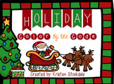 Holiday Color by the Code Math Puzzles-no prep!