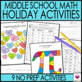 Holiday Math Activities Middle School Math Bundle