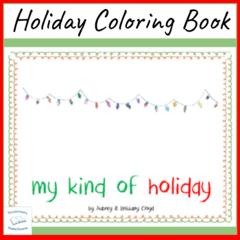 Holiday Coloring Book Christmas Winter Solstice Chanukah Kwanzaa Santa Claus
