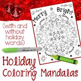 Christmas Coloring Page Mandalas