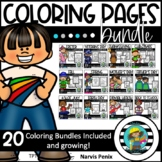 Holiday Coloring Pages Bundle (Growing Bundle)