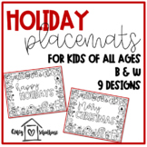 Holiday Coloring Placemats