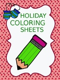 Friday FREEBIE...Holiday Coloring Sheets