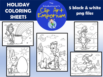 Holiday Coloring Sheets - The Schmillustrator's Clip Art Emporium