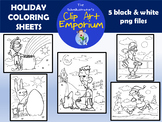 Holiday Coloring Sheets - The Schmillustrator's Clip Art Emporium