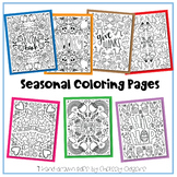 Holiday Coloring Sheets | seven hand-drawn pdfs by hipster
