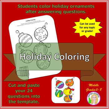 Holiday Coloring Template