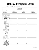 Holiday Compound Words Practice Worksheet