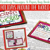 Holidays Around the World Comprehension Passages & Paper Bag Book