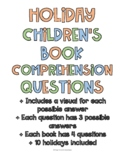 Holiday Children's Books Comprehension Questions (10 holid