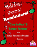 December Concert Parent Reminders!