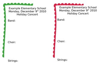 Holiday Concert Program Template