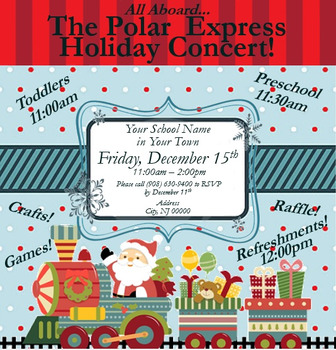 Holiday Concert / Winter Open House Flyer