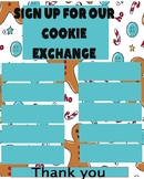 Holiday Cookie Exchange sign up sheet