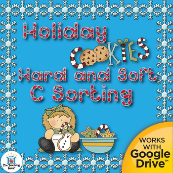 Christmas Holiday Hard C and Soft C Literacy Center