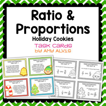 Ratio and Proportion Task Cards Holiday Cookie