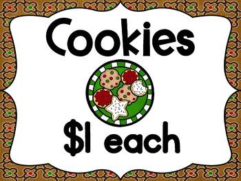Holiday Cookie Shop Dramatic Play Center
