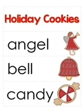 Holiday Cookie Word Cards and Word Walls in English and Spanish