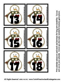 Holiday Cookies Calendar Pieces Winter memory game set w/ Bonus Set Pre-K