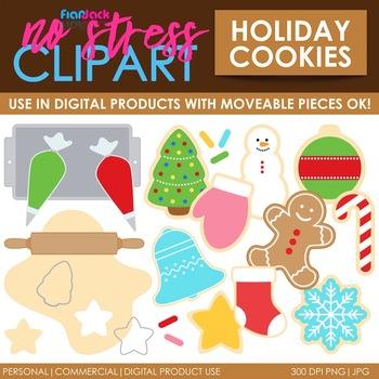 Holiday Cookies Christmas Clip Art (Digital Use Ok!)
