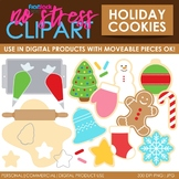 Holiday Cookies Christmas Clip Art (Digital Use Ok!)