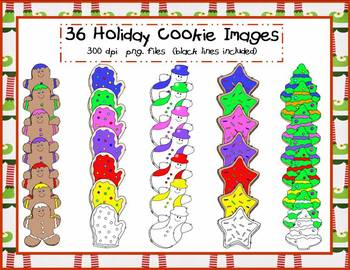 Holiday Cookies Clip Art