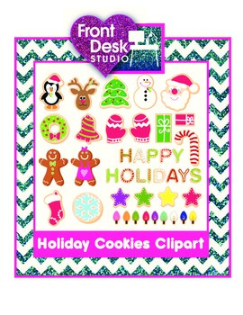 Holiday Cookies Clipart - Christmas