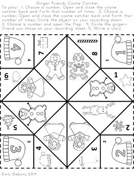 December Centers Holiday Writing Practice ~Cootie Catchers~