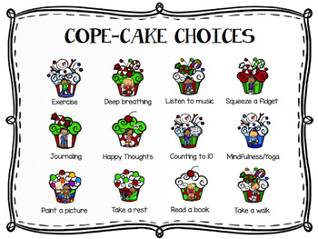Holiday Cope Cakes A Coping Skills Matching Game Tpt