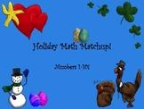 Holiday Core Math Match-Up Cards