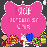Holiday Core Vocabulary Board Activities