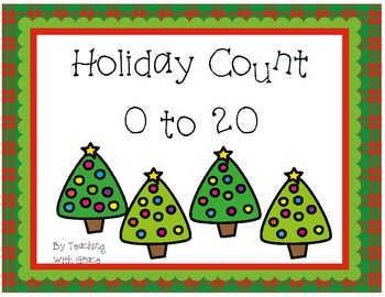 Holiday Count 0 to 20: Christmas and Winter Holiday Themed Math Activity