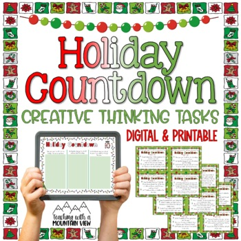 Holiday Countdown Christmas Task Cards and Booklet