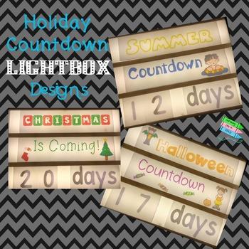 Holiday Countdown Lightbox Display Set
