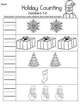 Holiday Counting: 1-10