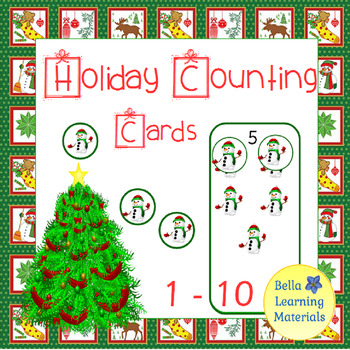 Holiday Counting Cards 1 - 10