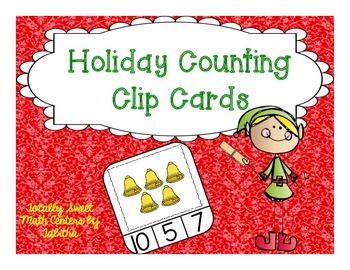 Holiday Counting Frame Clip Cards