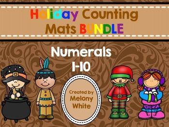 Holiday Counting Mats BUNDLE