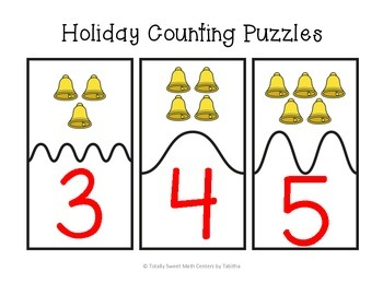 Holiday Counting Self-Checking Puzzles